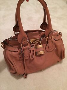 Image Is Loading Authentic Chloe Paddington Lock Camel Leather Hand Bag