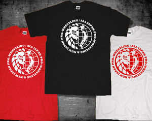 New Japan Pro-Wrestling All Japan Pro-Wrestling Combine logo NJPW AJPW T-shirt