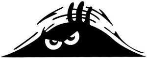 Angry-Monster-Aufkleber-Car-Tattoo-Sticker-No-Fear-Blick-fuer-Roller-Laptop-Wand