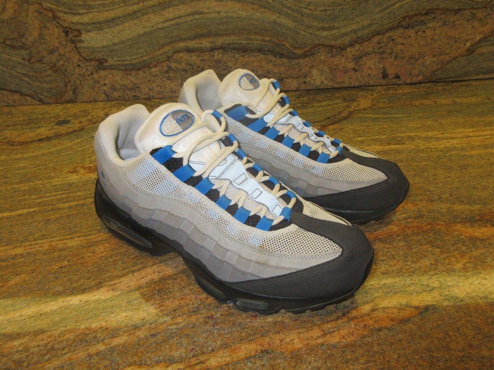 2010 Nike Air Max 95 OG SZ 9.5 9.5 9.5 Natural grigio Photo blu NRG PRM QS 609048-034 fc9c03