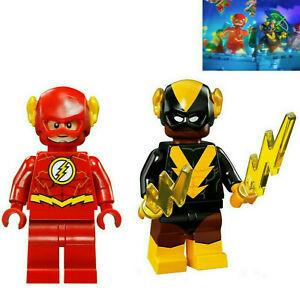 LEGO-The-Flash-and-Black-Vulcan-Minifigure-DC-Comics-Electric-Batman-Super