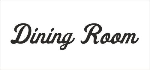 Salle à manger PORTE//MUR//FENÊTRE//Armoire Vinyle Autocollant-Taille//Options De Couleur