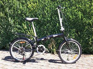 Klappfahrrad Klapprad  20 Zoll /16kg/ 6 GangFaltrad Camping /schwarz/weiß/silber