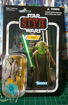 Star Wars Revenge Of The Sith Yoda Action Figure 653569548966 Ebay