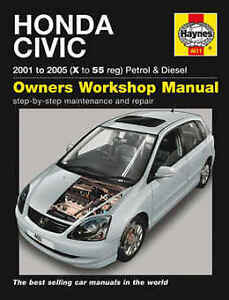 honda civic repair manual haynes manual workshop service manual 2001 rh ebay com 2001 honda civic ex repair manual 2001 honda civic ex repair manual