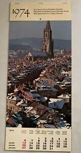 1974-Vintage-Advertising-Calendar-Photography-English-German-French
