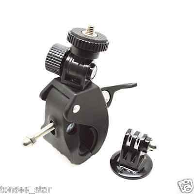 Bike Motorcycle Handlebar Seatpost Pole Mount Holder for Gopro Hero 4/3 /3/2/1
