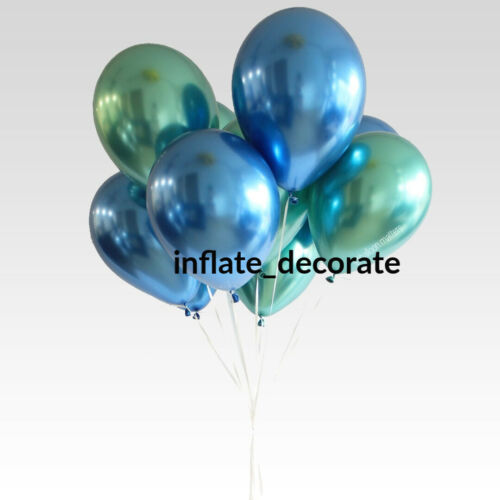 "10/"" Metallic Pearl Chrome Latex Balloons for Wedding Birthday Party 10-30PCS UK"