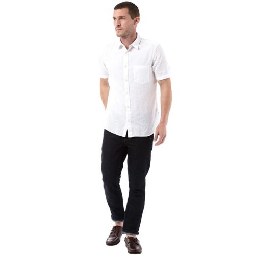 Small French Connection Mens Linen Shirt White BNWT