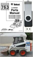 New Listingbobcat 763 G Series Skid Steer Loader Parts Manual On Usb Flash Drive