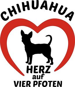 Chihuahua-Hunde-Aufkleber-HERZ-auf-vier-PFOTEN-Chi-Schiwawa-Folienaufkleber
