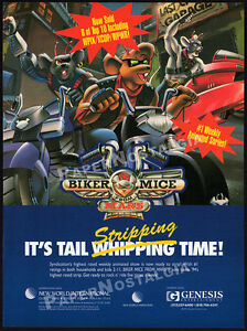 BIKER MICE FROM MARS__Original 1994 Trade Print AD / TV series syndication promo