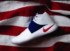 purchase cheap 232a8 df7af Image is loading Nike-Kyrie-2-USA-Olympic-16-White-Blue-
