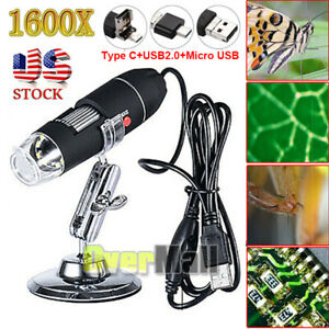 1600X-USB-Digital-Microscope-for-Electronic-Accessories-Coin-Inspection-US-Stock