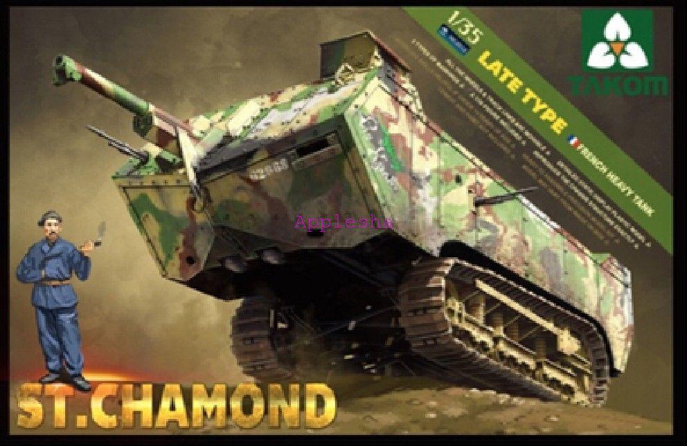 Takom 2012 1 35 French Heavy Tank St.Chamond Late Type