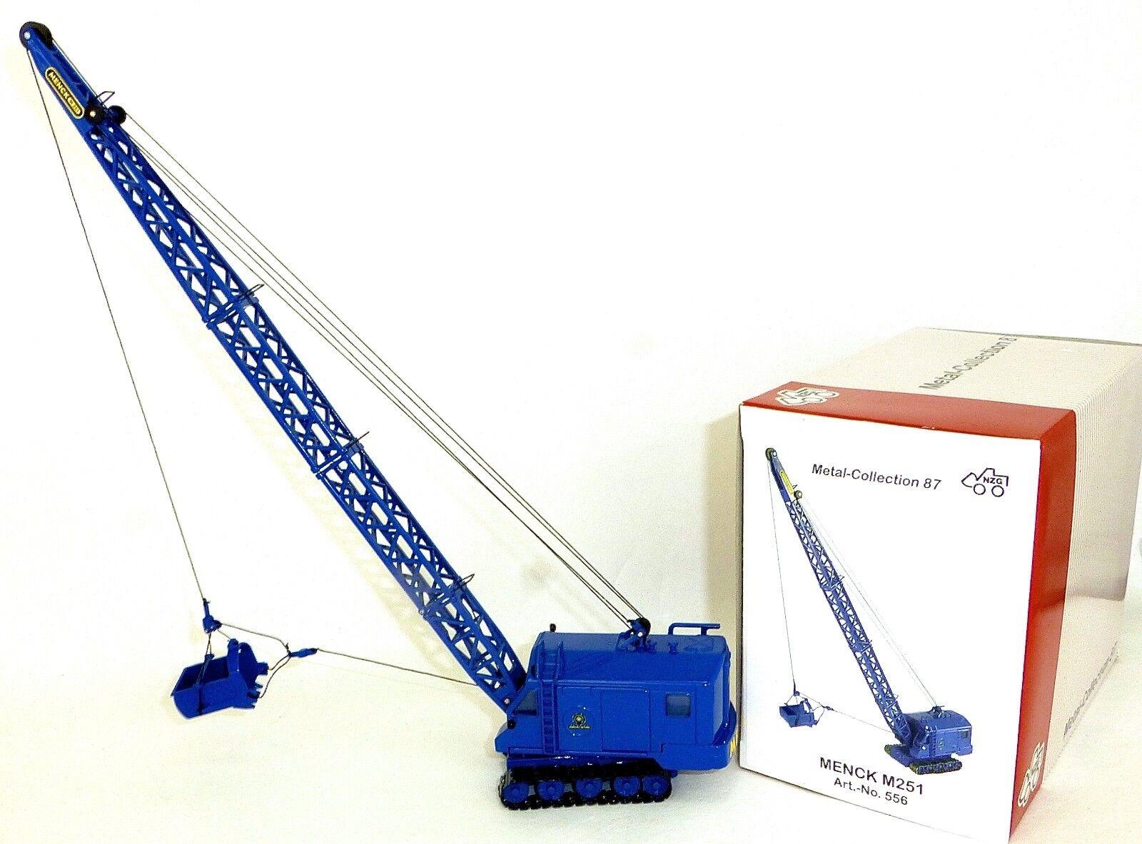 Mahmood M251 Excavadora blue de Cable Nzg Nzg Nzg 556 Metal Collection 1 87 Emb.orig 4961d7
