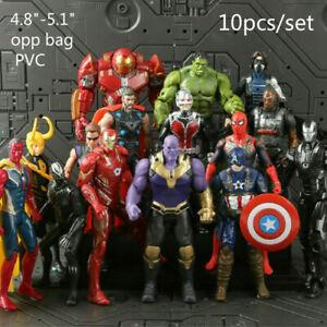 10Pcs-Avengers-3-Action-Figure-Marvel-Captain-America-Spider-Man-Iron-Man-Doll