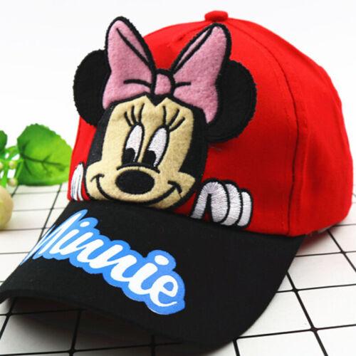 New Kid Boy Girl Spiderman Mickey Snapback Baseball Caps Cartoon Hats Adjustable