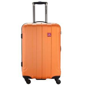 Hartschalenkoffer-Trolley-Saxoline-Matrix-orange-64-cm-Groesse-M-NEU