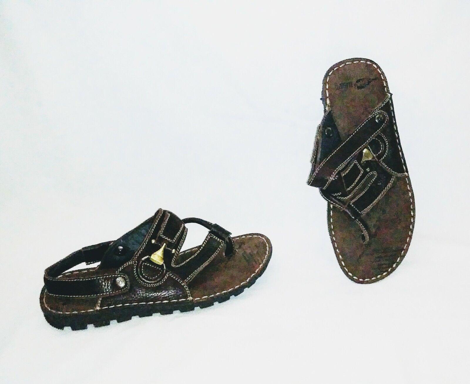 Nuevo sin etiquetas baesn importación Dinamarca Suela De Goma Goma Goma Sandalias De Cuero Zapatos ortopédicos SZ-8.5 9  mejor opcion