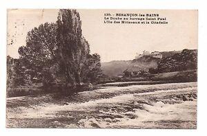 25-cpa-BESANCON-LES-BAINS-Le-Doubs-au-barrage-St-Paul-Ile-des-Moineaux