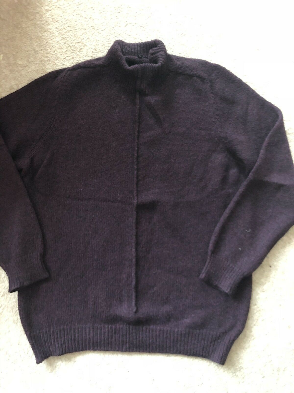 Men's Virgin Wool And Alpaca Jumper, Size 50, Purple Colour, Used
