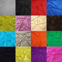 "Premium Lycra Spandex Nylon Fabric 4 Way Stretch Dress Dance Material 150cm 59"""