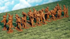 Armies in Plastic WWI French Khaki Uniforms w/Adrian Helmets 1/32 Scale 54mm
