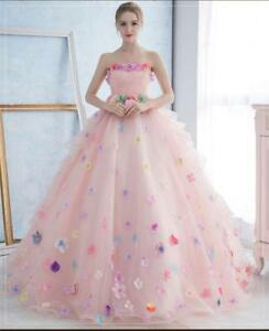 Image Is Loading Pink White Chic Elegant Pregnant Wedding Dress Colorful
