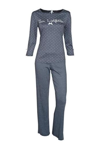 """LOUIS /& LOUISA /"""" Zum Wohlfühlen /"""" Pyjama Pünktchen antrazit Gr.S XL NEU"""