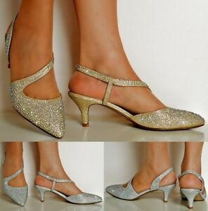 Low Heel Bridal Shoes Gold
