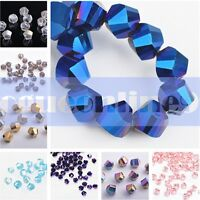 Exquisite Faceted Glass Crystal Loose Spacer Beads Findings 6mm