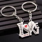 2pcs Couples Lovers Word Metal Key Chain Ring Keyfob