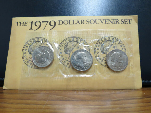 1979 P D S BU Susan B Anthony Souvenir Dollar Set Lot 1