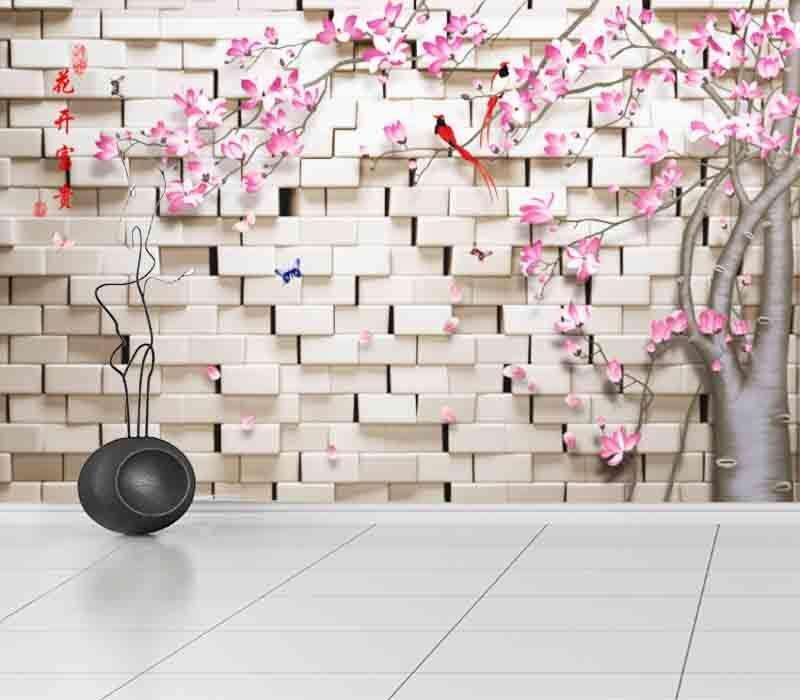 Elegant Flower Wall 3D Full Wall Mural Photo Wallpaper Printing Home Kids Decor
