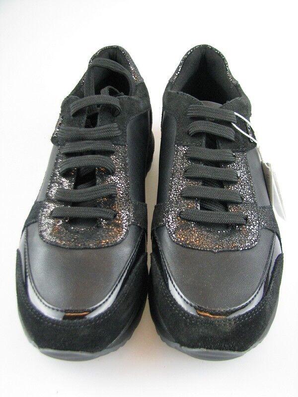Zapatos promocionales para hombres y mujeres Geox Damen Sneakers D AIRELL C Schwarz Leder in Gr.37