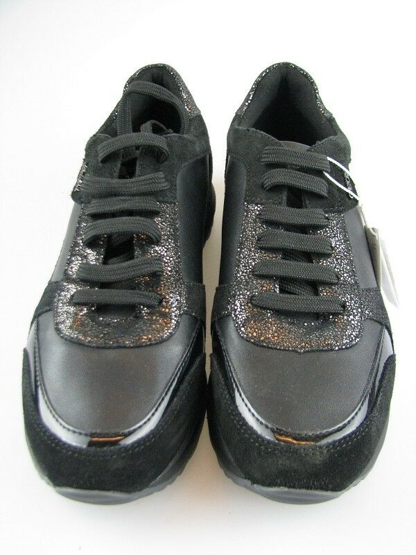 Geox Damen Sneakers D AIRELL C Schwarz Leder in Gr.37