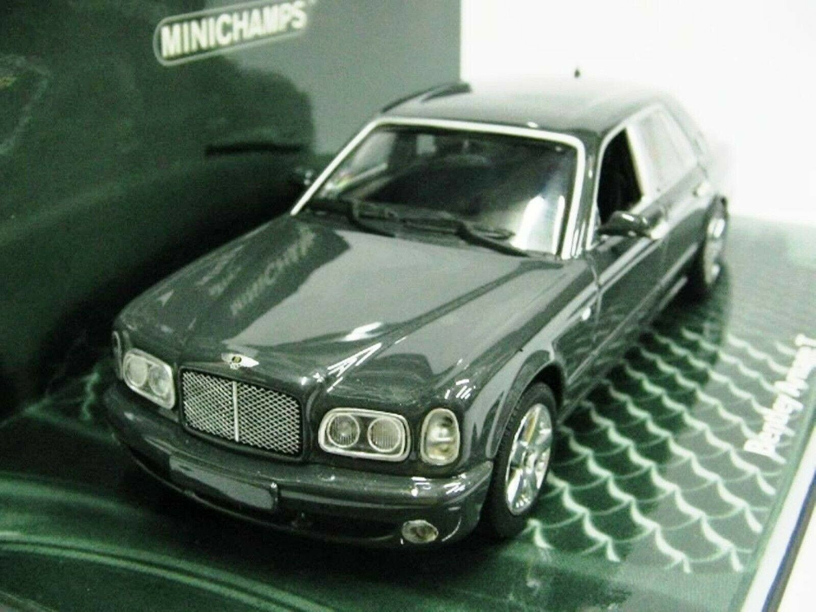 Wow extremadonnate raro Bentley Arnage T S1 BL 6.75 32V 2003 grigio 1 43 Minichamps GT