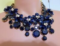 Authentic J Crew Jeweled Midnight Floral Necklace Item F2782