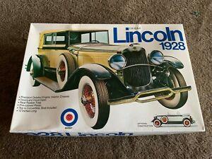 Details about Vintage Entex 1928 Lincoln Plastic Model Kit 1:16 Scale Boxed  Sealed