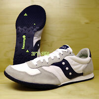 Saucony Bullet White Navy Mens Casual Retro Running Shoes Sneaker S6222-11
