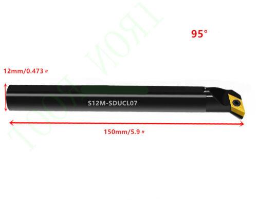 1P S12M-SDUCL07 CNC lathe internal tool holder boring bar  For DCMT0702 Insert