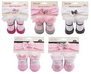 Neugeborenes-Baby-Maedchen-Socke-amp-Stirnband-satz-Prinzessin-amp-Mary-Jane-Stile
