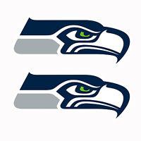 Set Of 2 Seattle Seahawks Decals 18 X 8 Large Cornhole - Indoor / Outdoor