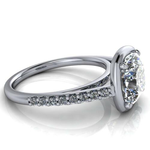 Details about  /3.60Ct White Cushion Stone Bridal Set Wedding Engagement Ring In 935 Silver