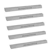 5 Pc Hss Square Tool Bit 316 X 316 X 2 12 Milling Lathe Tool Bit Cutter