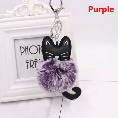 Handbag Accessories Jewelry Key Ring Faux Rabbit Fur Key Buckle Cat Keychain