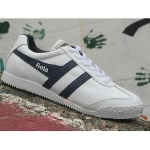 the best attitude ceb53 3145d Dettagli su Scarpe Gola Harrier Leather CMA198WE Uomo Sneakers White Navy  Casual Moda
