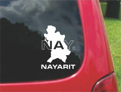 Nayarit Mexico Outline Map Stickers Decals 20 Colors To Choose From PCS 2