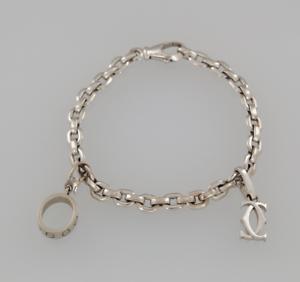 Cartier-18ct-White-Gold-LOVE-Chain-Charm-Bracelet